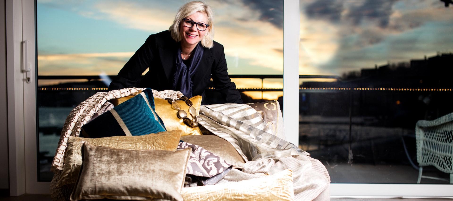 Gardinexperten Siri Christine Sandberg, Arendal. Puter og tekstiler